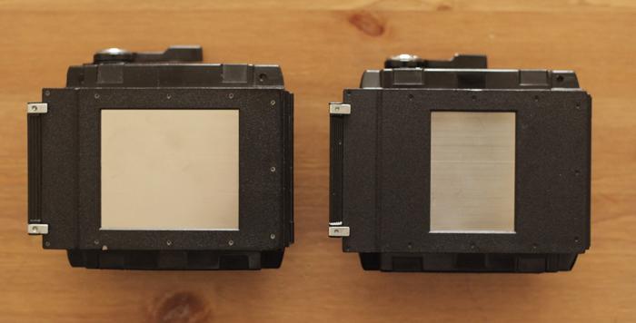 Mamiya RB67 Pro S フィルムホルダーの種類による違い